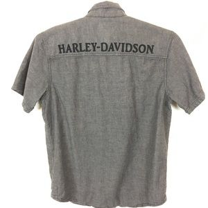Harley Davidson Custom Paint Embroidered Spellout